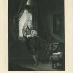 Rembrandt, etching, New Hollstein 238, copy i, Bartsch B. 285, Jan Six(1618-1700)