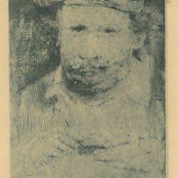 Rembrandt, Bartsch 379, copy, Self portrait of Rembrandt while etching