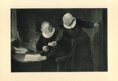 rembrandt painting Portrait of the shipbuilder Jan Rijcksen and his wife Griet Jans