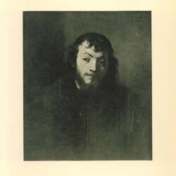 Rembrandt painting, Bust of a bearded young man with a skullcap , A young rabbi with a black cap , Portrait of a young jew