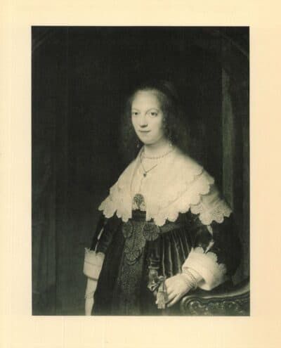 Rembrandt painting Portrait of a woman probably Maria Trip