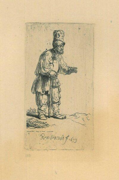 Rembrandt Etching, Bartsch B. 133,