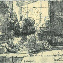 Rembrandt, etching, Bartsch B. 63,