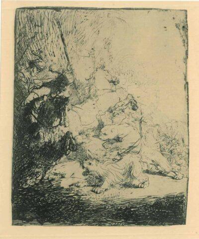 Rembrandt Etching, Bartch B. 115,