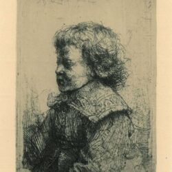 Rembrandt Etching, Bartch B. 310, Portrait of a boy, in profile