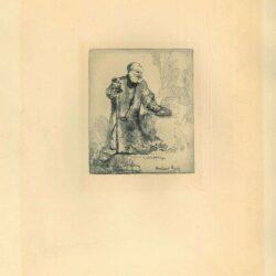 Rembrandt, Ets, Bartsch B. 96, Het berouw van Petrus