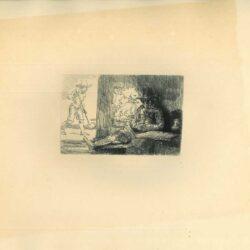 Rembrandt, Ets, Bartsch B. 125, Het kolfspel