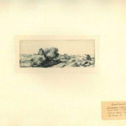 Rembrandt, Ets, Bartsch B. 213, Landschap met visser ofwel 'Het melkboertje'