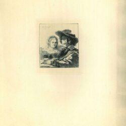 Rembrandt, Ets, Bartsch B. 19, Zelfportret met Saskia