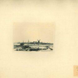 Rembrandt, ets, Bartsch B. 210, Zicht op Amsterdam uit het noordwesten