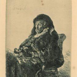 Rembrandt, etching, Bartsch b. 344, titel ontbreekt