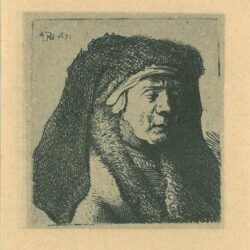 Rembrandt, etching, Bartsch b. 355,