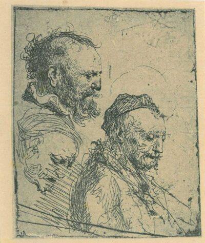 Rembrandt, etching, Bartsch b. 374,