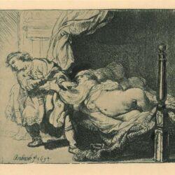 Rembrandt, etching, Bartsch b. 39,