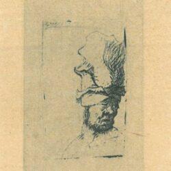 Rembrandt Etching, Bartch 302,