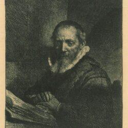 Rembrandt Etching, Bartch B.266, Jan Cornelis Sylvius, preacher [1564-1638]
