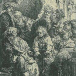 Rembrandt Etching, Bartch B. 37