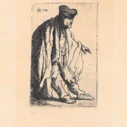 Rembrandt, Bartsch B. 150, Bedelaar met uitgestoken linkerarm