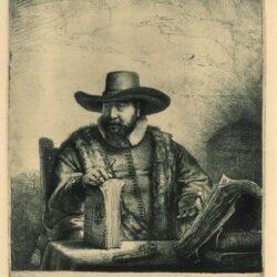 Rembrandt, Etching, Bartsch B. 271, Cornelis Claesz. Anslo, preacher (1592-1646)