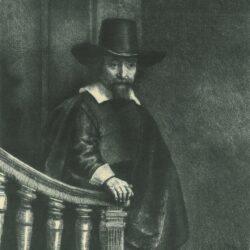 Rembrandt Etching, Bartch B. 278, Ephraim Bonus, Jewish physician (1599-1655)