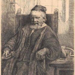 Rembrandt, Bartsch B. 276, New Hollstein 293, De goudsmid Jan Lutma (1584-1669)
