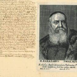 Rembrandt, Schilderij, Portret van Eleazar Swalmius (1582-1652), Ets