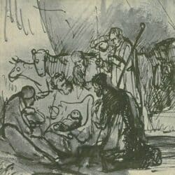 Drawing, Rembrandt or Carel