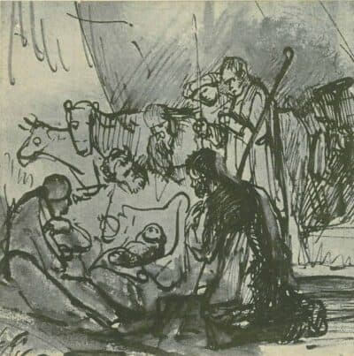 Drawing, Rembrandt or Carel