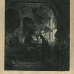 Rembrandt, painting, Tobias healing his blind father